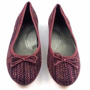 Vaneli 9.5M Red / Black Tweed Ballet Flats